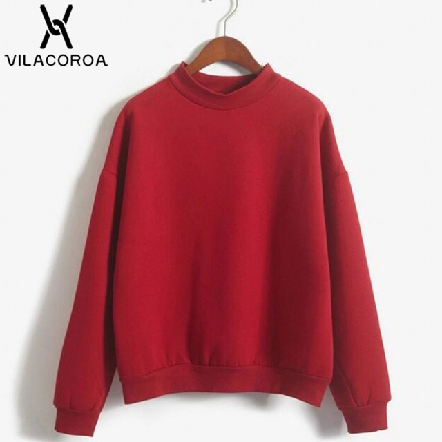 9 Colors Winter Solid Color Round Neck Long Sleeve Velvet Warm Sweatshirts Women Korean style Loose Hoodies Female Casual Coat 2