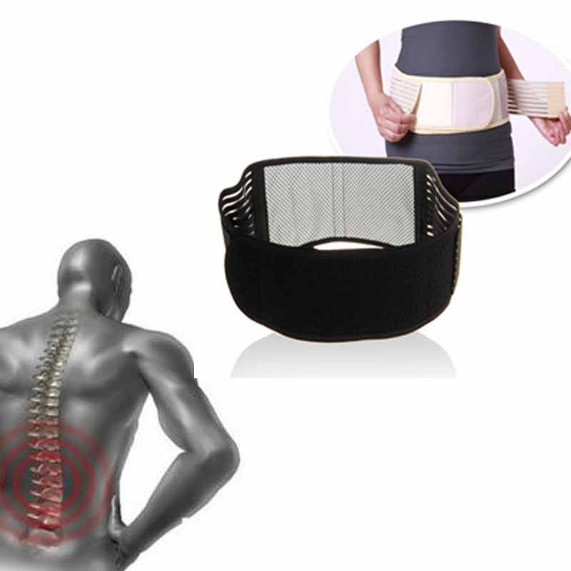 Lumbar Lower Back Braces Support Belt Strap Pain Relief Waist Trimmer With Tourmaline Adjustable Self-heating double pull lumbar support lower back belt brace band waist four aluminium strips protection back waist support belt yw 01m27
