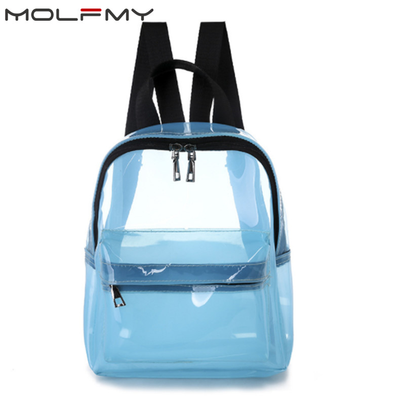 2019 Transparent Small Backpack Women Clear PVC Jelly Backpacks Female Shoulder Bag Waterproof School Bag For Girls Travel Bags2019 Transparent Small Backpack Women Clear PVC Jelly Backpacks Female Shoulder Bag Waterproof School Bag For Girls Travel Bags
