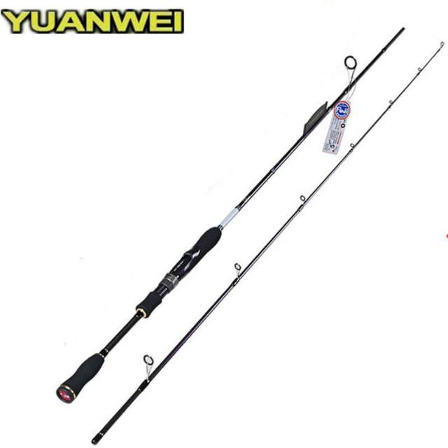 1.8 m 2.1 m 2.4 m Canne à filer 2 sections en Fiber De carbone leurre Canne à pêche A pêche Vara De Para Pesca