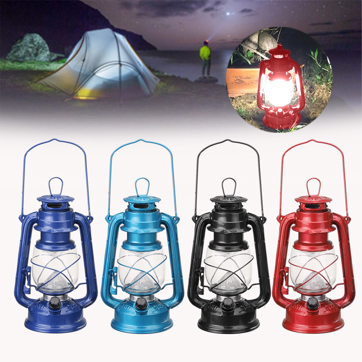 Us 13 21 23 Off Vintage Style Portable 15 Led Lantern Battery Operated Indoor Outdoor Garden Fishing Camping Hikingtent Light In Lanterns
