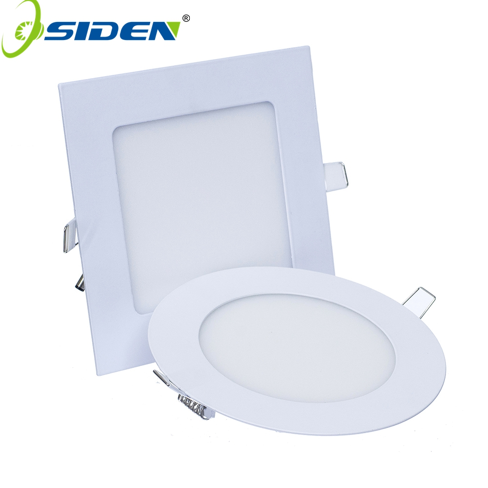 OSIDEN AC85-265 Panel de luz LED Downlight 3W 6W 9W 12W 15W 18W Panel ultrafino LED de aluminio para montaje en superficie Lámpara de techo