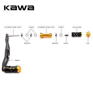 Image 4 - KAWA דיג סליל ידית סיבי פחמן עבור Baitcasting 105mm אורך חור גודל 8x5mm עובי 3mm חליפה עבור אבו ו Daiwa סליל