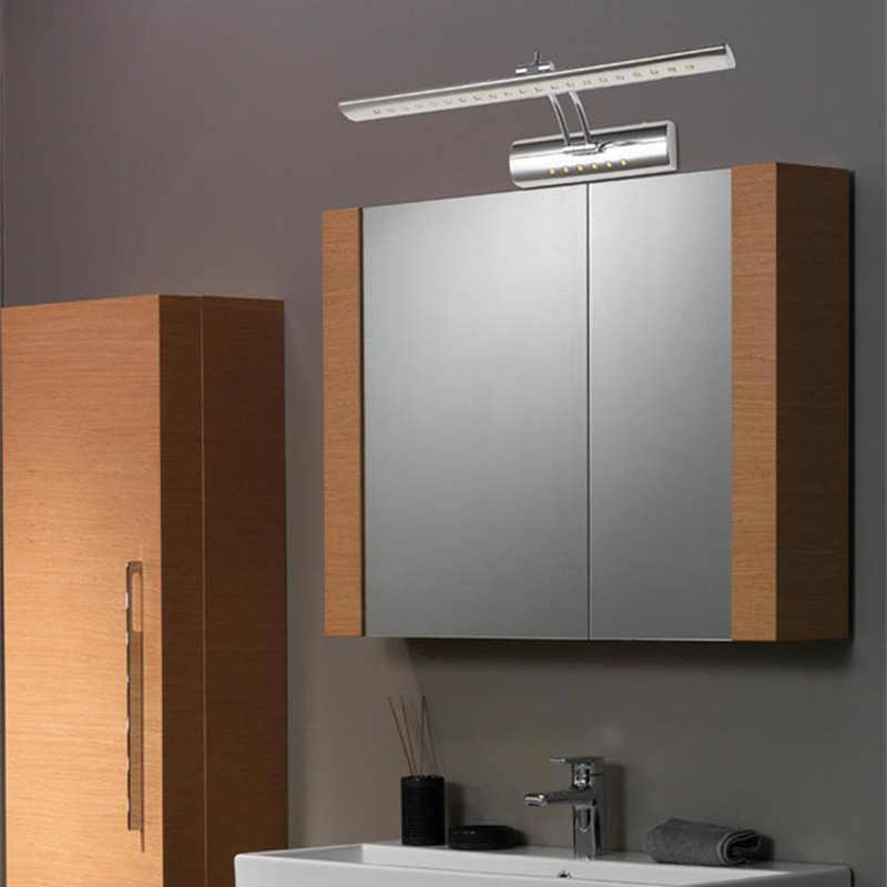 Modern bathroom led mirror light 7w mounted stainless steel modern bathroom led mirror light 7w mounted stainless steel decoration lighting cabinet sconces 220v led wall lamp with switch in wall lamps from lights aloadofball Images