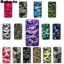 Babaite Camouflage Pattern Camo military Army Soft Rubber black Phone Case for Apple iPhone 8 7 6 6S Plus X XS MAX 5 5S SE XR