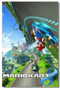 Пользовательские холст Настенный декор Super Mario Kart 8 постер Super Mario Bros Настенная Наклейка для офиса игры Обои кафе настенные наклейки #0497 #