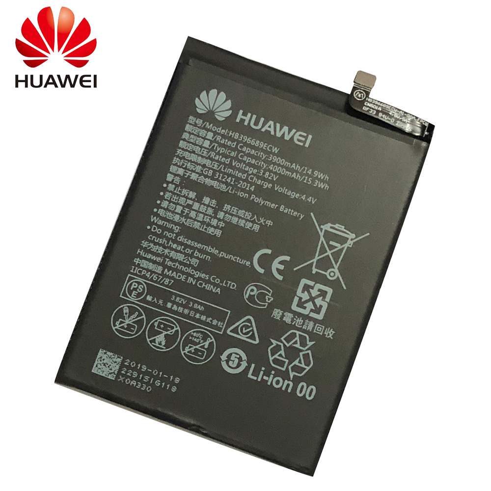 Hua Wei HB396689ECW Original Replacement Phone Battery For Huawei Mate 9 Mate9 Rechargeable Li-ion Battery 4000mAh