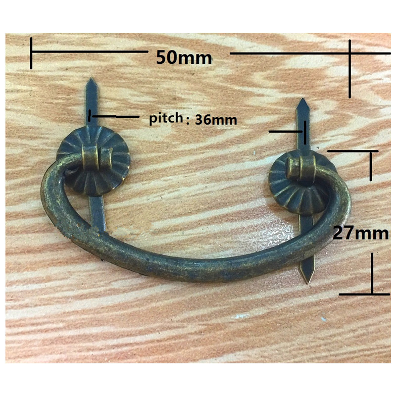 Small Retro Iron Kitchen Drawer Cabinet Door Handle Vintage Furniture Knobs Antique Bronze Wooden Box Case Cupboard Pull Handles s46240mb3sl4lv0 4 s46240mb3sr4lv0 4 lcd panel pcb parts a pair