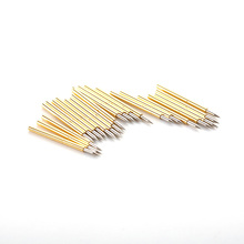 цена на P75-B1 Nickel Plated Pointed Spring Test Probes 100PCS Pogo Pin for Electrical Test Equipment Tool Diameter 0.74mm Length 15.8mm