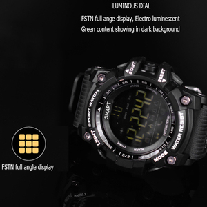 Image 5 - 時間所有者 Bluetooth 時計 EX16 スマート腕時計通知リモコン歩数計スポーツウォッチ IP67 防水男性の腕時計