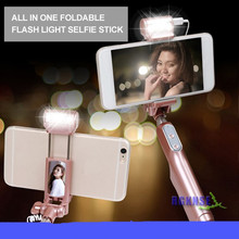 Bluetooth Selfie Stick Extendable Handheld Monopod W Filling LED Light for Samsung font b Galaxy b