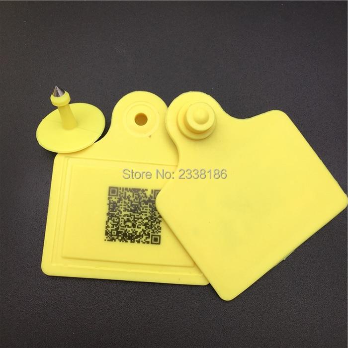 X100pcs UHF 860-960KHZ RFID Ear Tag, Sheep Cow Pig For Animal Identification Visual Tag