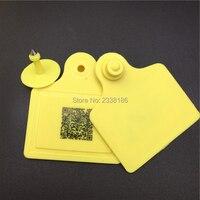x100pcs UHF 860 960KHZ RFID ear tag, Sheep cow pig for animal identification visual tag