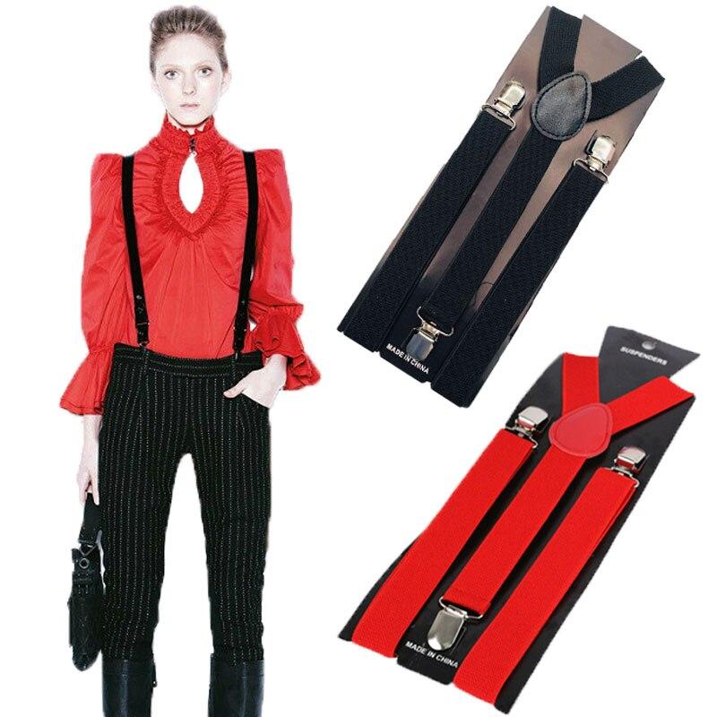 Mens Womens Unisex Clip-on Suspenders Elastic Y-Shape Adjustable Braces Colorful Men/Women Clothing Suspenders