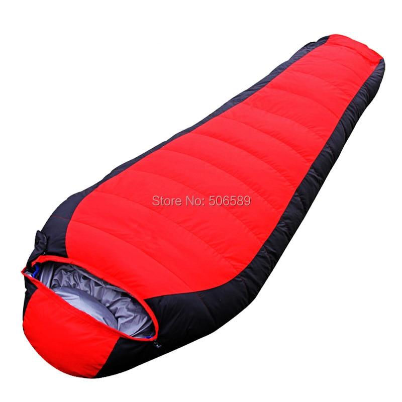 free shipping single sleeping bag winter use 320T nylon 1.5kg 190+25