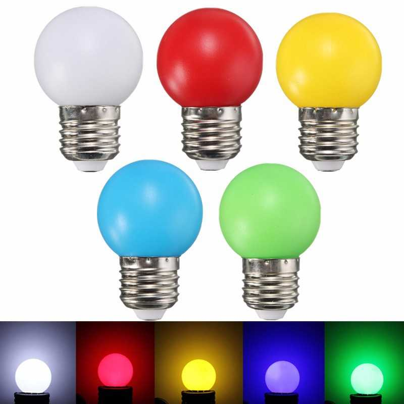 LED Light Bulb E27 1W 6 LED SMD Spotlight Holiday Home Decoration Lights Lamps Bulb White Red Yellow Blue Green 220V