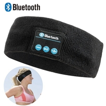 야외 스포츠 머리띠 무선 착용형 스테레오 음악 이어폰 헤드폰 스마트 폰 PC 용 마이크와 블루투스 헤드셋