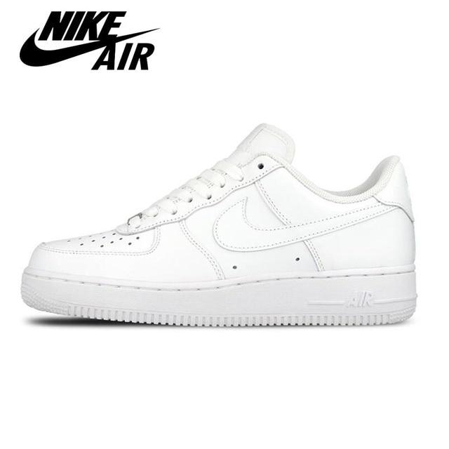 Original Nouvelle Arrivée Officiel Nike AIR FORCE 1 AF1 Unisexe Femmes et  Hommes Respirant Skate Chaussures