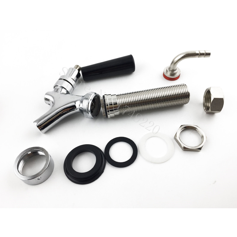92.5mmUs style Chrome Draft Beer Faucet with long shank Combo Kit ...