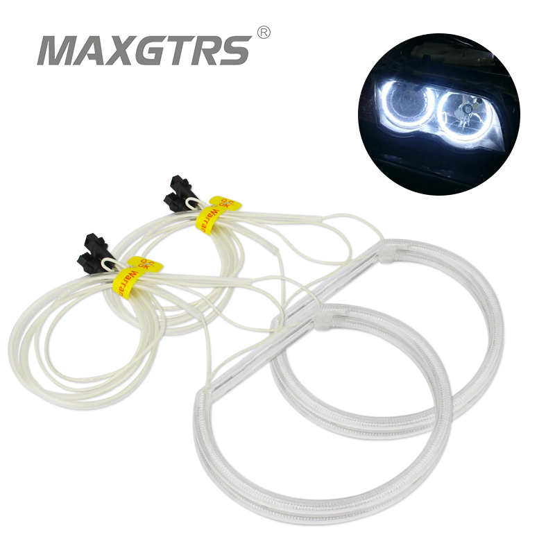 4x 131mm 146mm Angel Eye Halo Rings Reflector CCFL for BMW E46 3 Series E83 X3 White Yellow Non-Projector Lamp Led headlight 4pcs set yellow car ccfl halo rings led angel eye headlight kits for bmw e32 e34 e30 e39oem j 4164