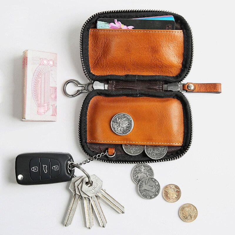 Factory direct sales of men's key bag multi-functional leather waist car car pocket package wallet