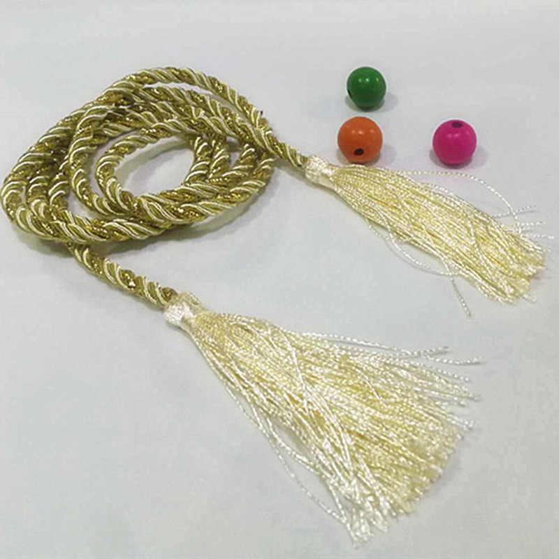 Kolorowe ręcznie tkane tkania frędzle ozdobne liny akcesoria do zasłon więzi związane smycz proste DIY liny wiszące do wystroju domu