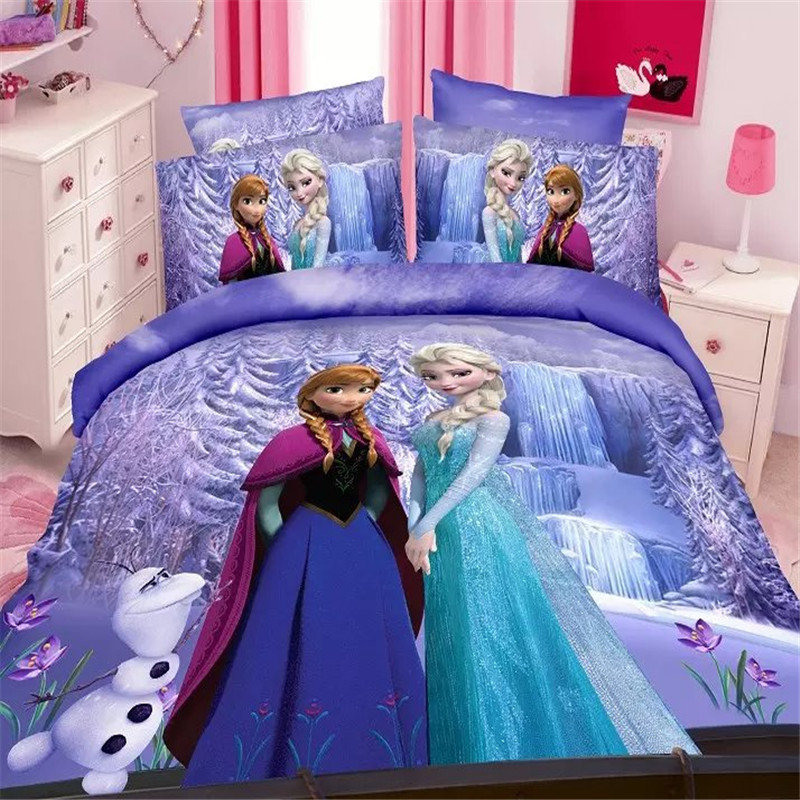 Disney Frozen Girls Bedding Set Duvet Cover Bed Sheet Pillow Cases Twin  Single Size Pink In Bedding Sets From Home U0026 Garden On Aliexpress.com |  Alibaba ...