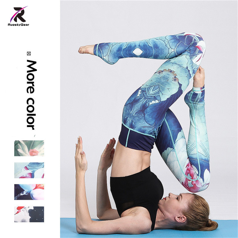 Yoga Pants Sport Women Fitness Running Tights Female Exercise Running Trousers Workout Sport Leggings for Woman