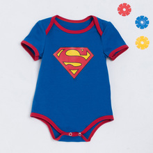 Summer Batman Halloween Blue Superman Baby Newborn Infant Costumes Romper Outfits Bebe Bobo Jumpsuit Baby Girl Clothes Cosplay
