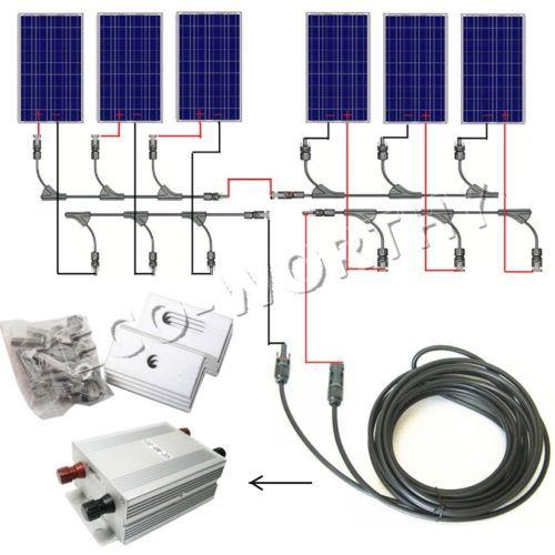 600 Watt COMPLETE KIT 6pcs 100w Photovoltaic PV Solar Panel 24V Sytem RV Boat Solar Generators complete kit 100watt poly solar panel system for 12v rv boat battery charger