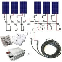 600 Watt COMPLETE KIT 6pcs 100w Photovoltaic PV Solar Panel 24V Sytem RV Boat Solar Generators