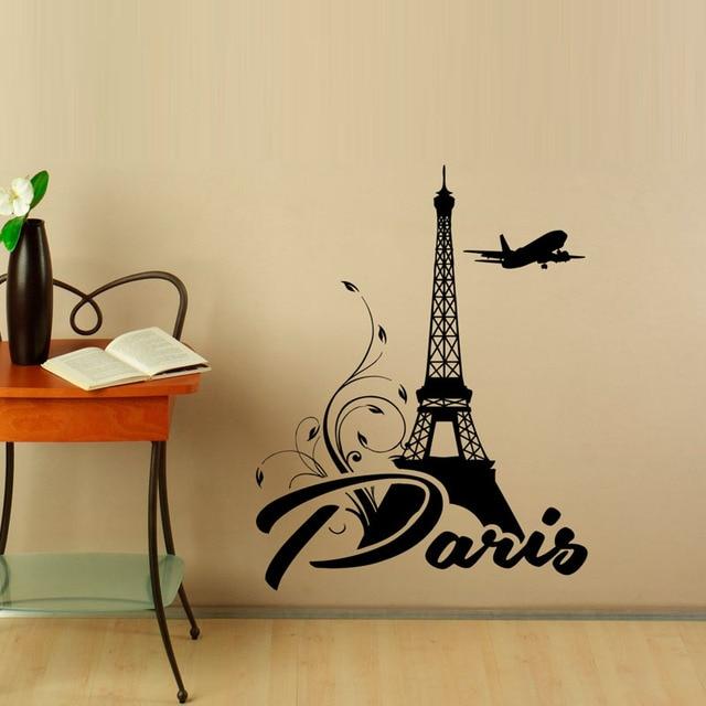 Moderne Wandtattoos eiffelturm wandaufkleber vinyl aufkleber selbstklebende