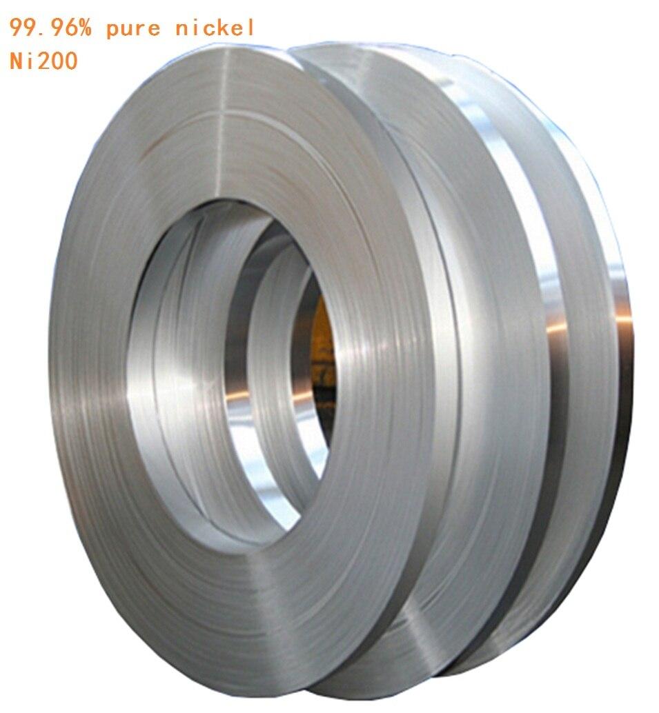 0.5kg 0.15mm * 12mm Pure Nickel Plate <font><b>Strap</b></font> Strip Sheets 99.96% pure nickel for <font><b>Battery</b></font> electrode electrode Spot Welding Machine