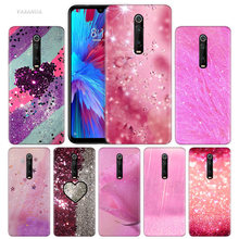 Pink Gold Print Case for Xiaomi Redmi Note 7 7S K20 Y3 GO S2 6 6A 7A 5 Pro MI Play A1 A2 8 Lite Poco F1 Silicone Phone Bags Capa(China)