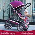 Alta paisagem carrinho dual shock no verão e no inverno você pode sentar plana bebê revertendo quatro-rodas carrinhos de bebê