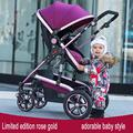 high landscape stroller dual shock in summer and winter you can sit flat baby reversing four-wheeled baby carriages