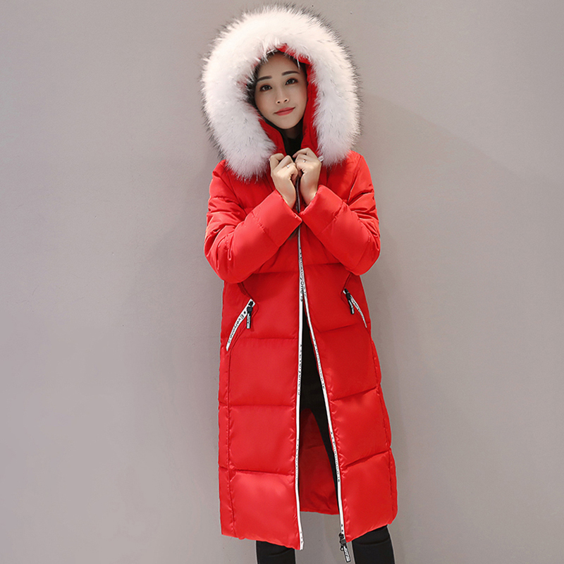 Winter Women Coat Jacket Warm High Quality thicker Parkas Winter Overcoat female plus size hooded big collar cotton coats QH0751 plus size winter womens down cotton coats jacket warm thick cotton hooded long parkas for women winter thicker overcoat qh0864