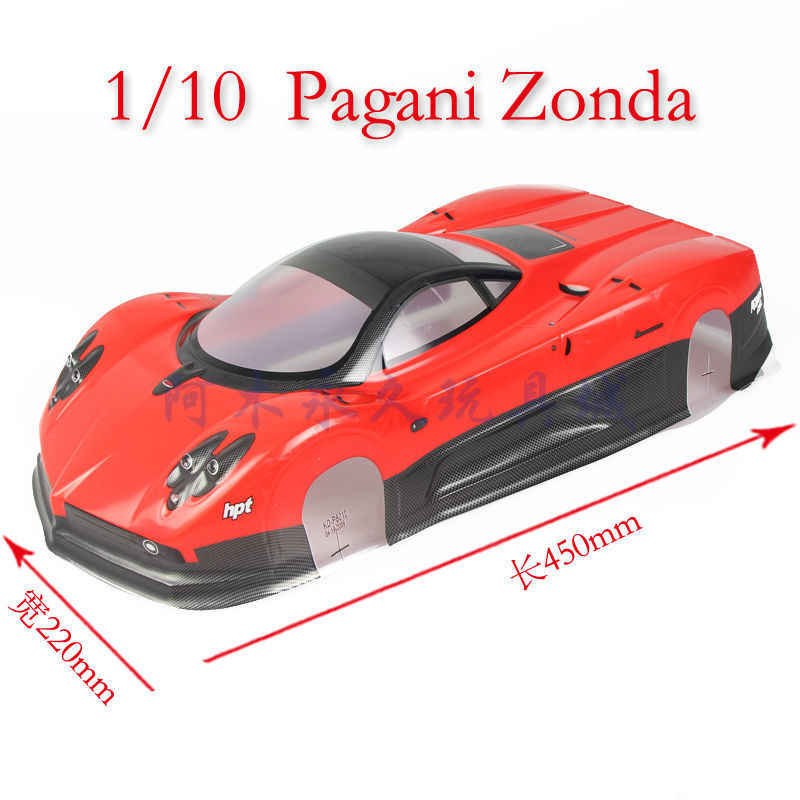2pcs/set zonda 1:10 PVC drift On-road painted body shell with wind tail for  hsp traxxas tamiya 3racing hpi hobby RC parts