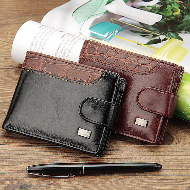 Baellerry Leather Vintage Hasp Small Wallet Men Coin Pocket Purse Card Holder Men Wallets Money Cartera Bag Male Clutch W066