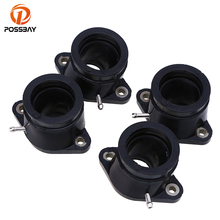 POSSBAY 4 PCS Carburetor Interface Insulator for Yamaha XJR1200 95-99 XJR1300 98-06 Intake Pipe Adapters Insulator Connectors