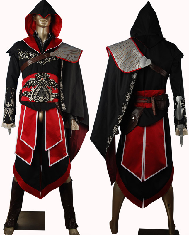Brotherhood Ezio black edition cosplay halloween make-up carnival comic-con costume