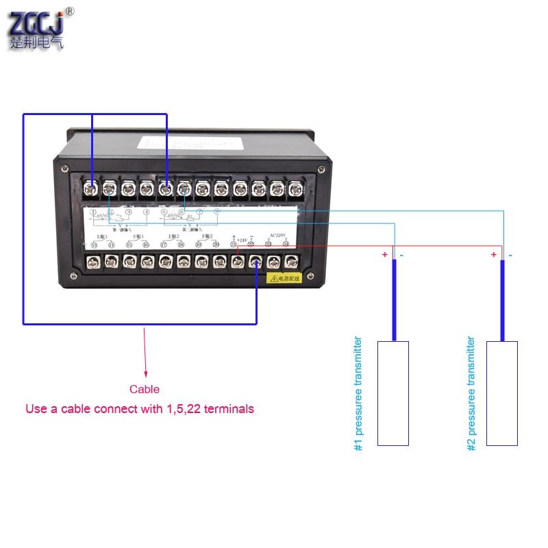 4-20mA DC вход двухканальный регулятор давления уровня жидкости воды с 4 способами реле и DC24V выход измеритель уровня жидкости воды