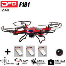 DFD F181 2.4G  RC Helicopters Remote Control Quadcopter 4CH 6Axis Mode 2 with 5MP HD Camera RC Drone