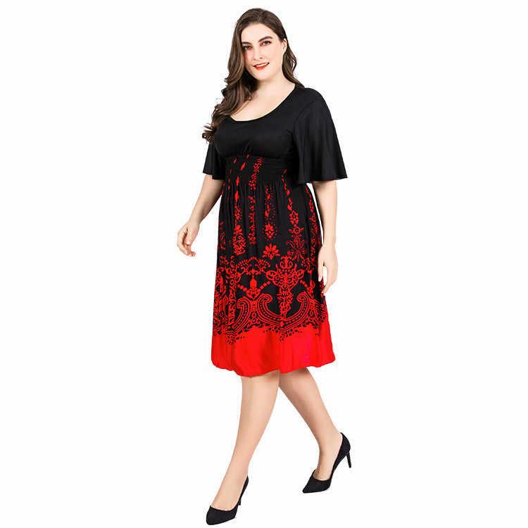 2b13afd263c ... TUHAO летнее платье больших размеров 6XL 5XL работы деловая модельная  одежда черного и красного цвета пикантные ...