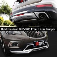 Apto Para Buick Envision 2015-2017 Front + Rear Bumper Difusor para Choques Lip Guard Protector skid placa ABS Chrome acabamento 2PES