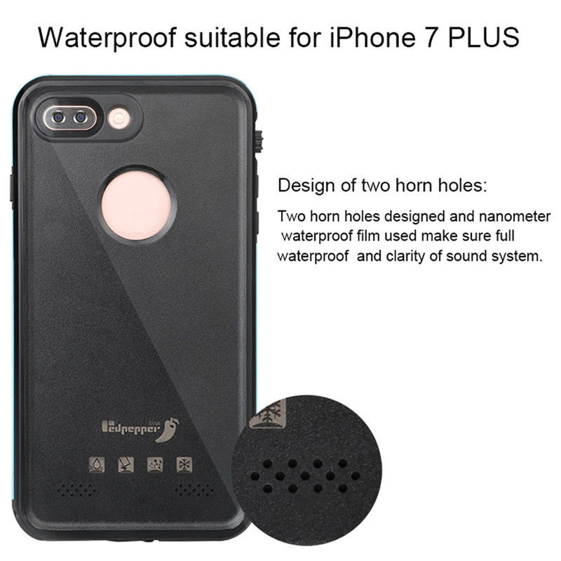 i7 Slim Ultra Thin Waterproof IP68 Underwater Shockproof Hard Case for iPhone7 7 Plus Life Water Proof Phone Cover Coque Capinha