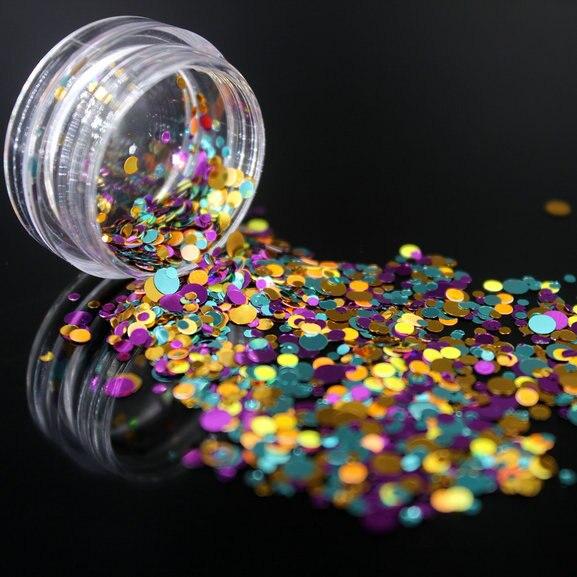 1 коробка блестящие круглые ультратонкие блестки Красочные Блестки для дизайна ногтей УФ гель 3D декоративный Маникюр DIY аксессуары NR234 - Цвет: 10