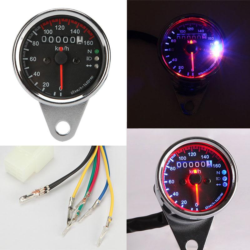 Dual Speedometer /& Tachometer Kit For Harley Davidson Softail Honda Universal