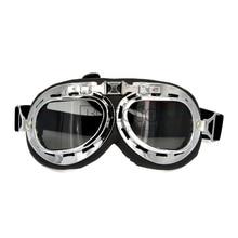 BJMOTO Motocross Glasses Pilot Old School Ski Goggles Bike C