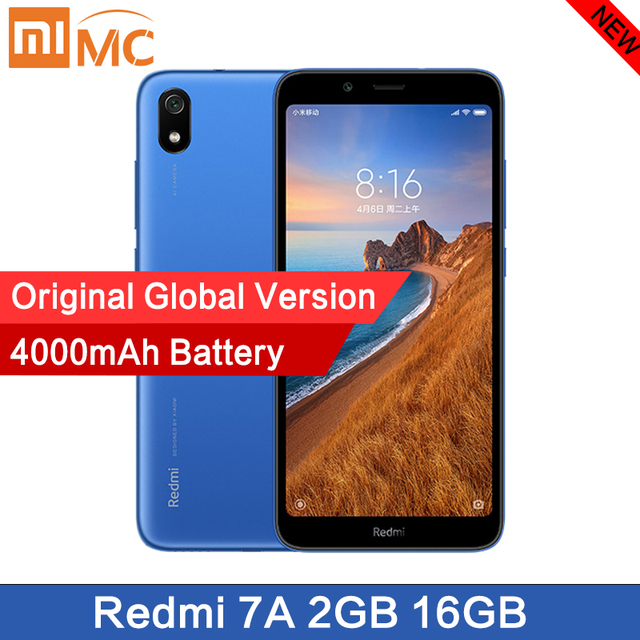 """Nuovo Originale Xiaomi Redmi 7A Smartphone 5.45 """"Snapdargon 439 4000 Mah Batteria 2 Gb 16G Octa Core 12MP versione Globale di Trasporto Veloce"""